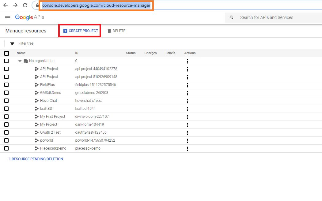 Google authentication - create client id and secret Step 1